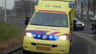 Video A1 compilatie ambulance dienst Rotterdam Rijnmond(GGD) MP3, 3GP, MP4, WEBM, AVI, FLV Oktober 2018