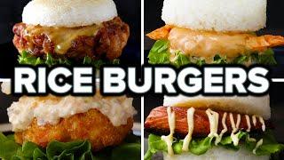 Japanese Rice Burgers 4 Ways by Tasty
