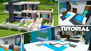 Minecraft: Large Modern House Interior Tutorial (Easy)