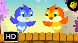 Two little dicky birds - English Nursery Rhymes - Animated/ Cartoon Songs For Kids