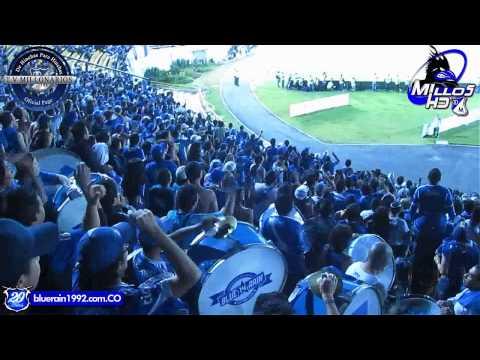 Fiesta De La Blue Rain // MILLOS vs cali - Blue Rain - Millonarios