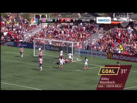 U.S. WNT vs. Costa Rica: Highlights – Sept. 1, 2012