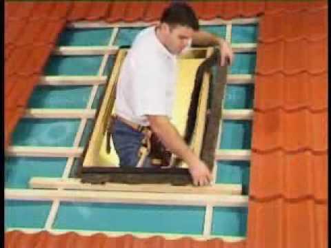 Montaż okna wyłazowego FWR,FWL