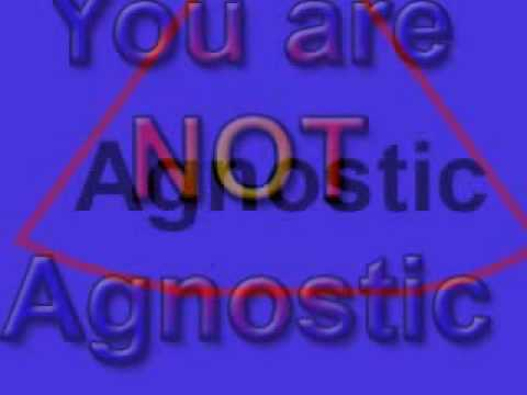 agnostic - You are not agnostic Some people claim to be agnostic instead of atheist because they believe it is a less severe view of the disbelief of a God. They are mi...
