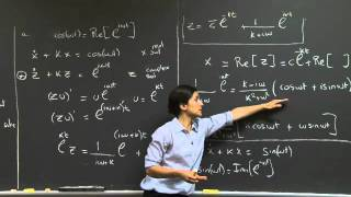 Sinusoidal Inputs | MIT 18.03SC Differential Equations, Fall 2011