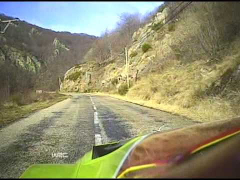 onboard mikko hirvonen - rally monte carlo 2008 ss04