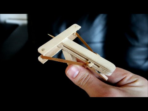 How to Make a Mini Wooden Crossbow Shoots