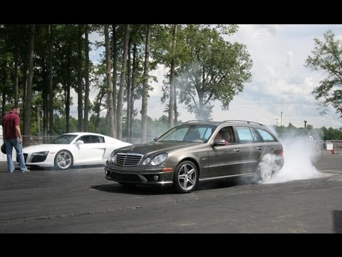 Audi R8 vs. Mercedes-Benz E63 AMG Wagon – CAR and DRIVER