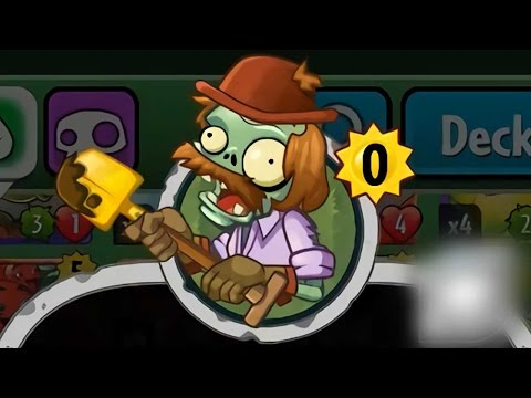 Plants vs Zombies Heroes - Unknown Card Added: Excavator Zombie (видео)