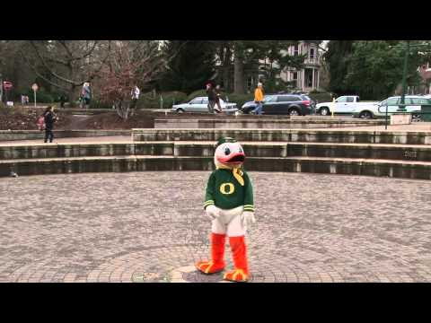 oregon duck - The Duck stole our camera today and recorded over the Fiesta Bowl interviews with this.