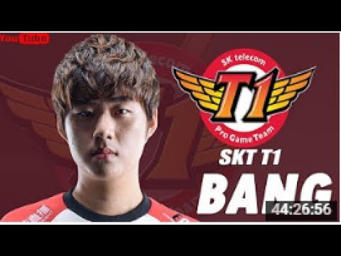 SKT T1 Bang Stream 26/7 | Best AD Carry Pentakill LOL | SK텔레콤 T1 | SKT T1 | Bang 유튜브