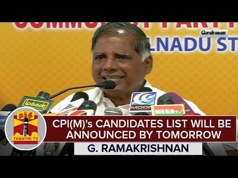TN-Elections-2016--CPI-M-s-Candidates-List-Will-Be-Announced-Tomorrow--G-Ramakrishnan