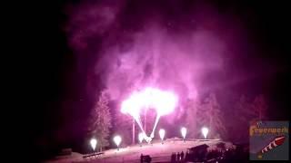 Flammenshow Hochzeit Seidlalm in Kitzbühel
