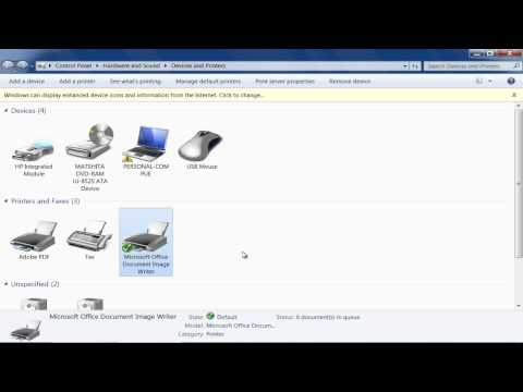 How to Set Default Printer in Windows 7
