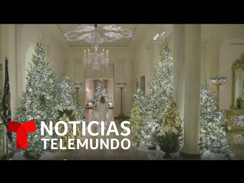 Melania Trump muestra el espíritu navideño de la Casa Blanca | Noticias Telemundo