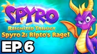 Spyro 2: Ripto's Rage Ep.6 - FIRST BOSS BATTLE vs CRUSH!!! (Reignited Trilogy Gameplay / Let's Play)