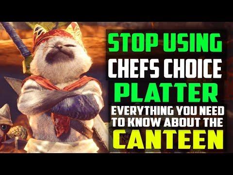 ✔️ STOP Using Chef's Choice Platter! BEST CUSTOM CANTEEN PLATTERS + FOOD SKILLS Monster Hunter World
