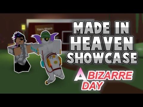 Made in Heaven Showcase! | A Bizarre Day | MiH Showcase ABD | Roblox