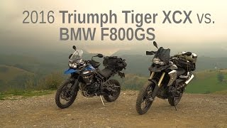 8. 2016 Triumph Tiger XCX vs. BMW F800GS | Comparison Test Ride Review