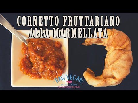 cornetto alla marmellata - ricetta fruttariana