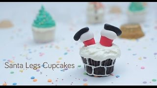How to Decorate Santa Leg Cupcakes