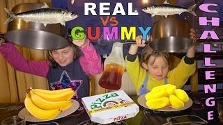 Video REAL FOOD VS GUMMY FOOD CHALLENGE • Vraie nourriture ou Bonbons Challenge entre Soeurs - #SBT MP3, 3GP, MP4, WEBM, AVI, FLV Mei 2017