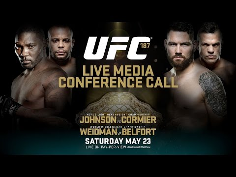 UFC 187: Johnson vs. Cormier Media Conference Call