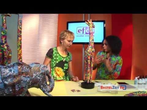 Bastelzeit TV 39 - Giraffe mit Decoupage veredelt