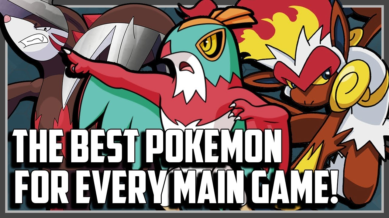 The BEST Pokemon From Every Main Series Game! - YouTube