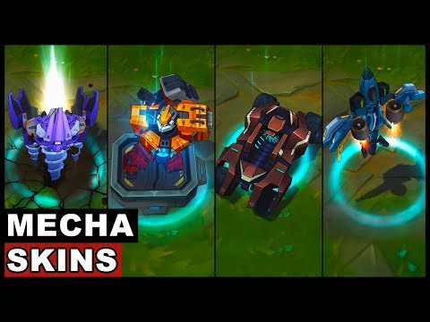 All Mecha Transformers Skins Spotlight Rengar Sion Aatrox Kha'Zix Malphite (League of Legends) (видео)