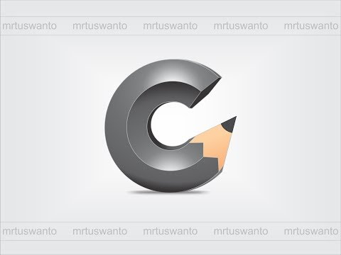 tutorial cara membuat logo 3d pensil dengan coreldraw x7 corel