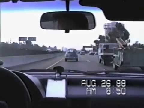 Driving The 405 Freeway South In 1988, 24 Years Before Carmageddon II