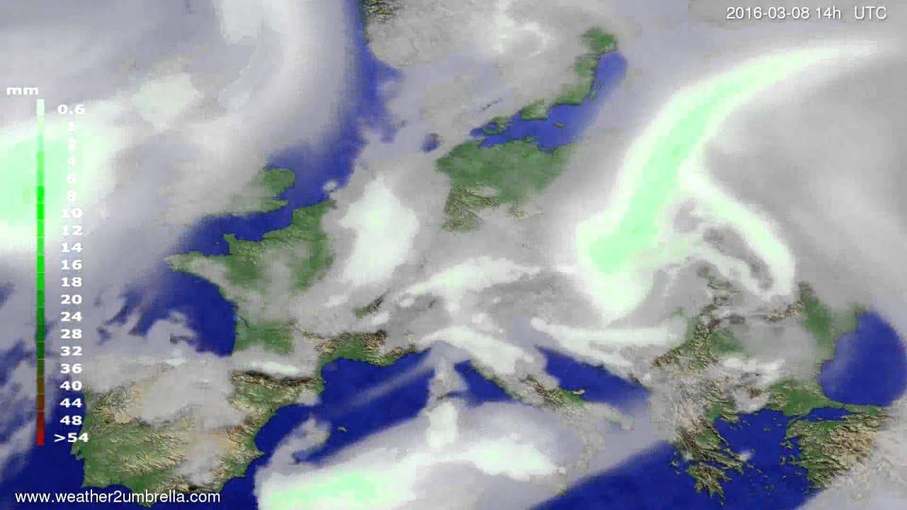 Precipitation forecast Europe 2016-03-04