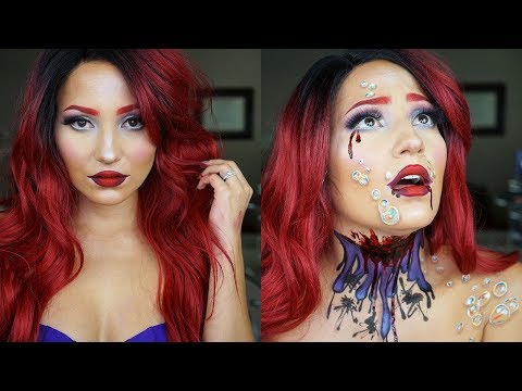 Make up - Ariel Little Mermaid Halloween Make-Up Tutorial  Using M.Y.O.B. Liquid Lipsticks