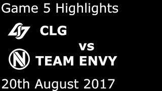 COUNTER LOGIC GAMING vs TEAM ENVY Highlights CLG vs NV Game 5 Highlights 2017 NALCS SUMMER SPLIT [NEXT...