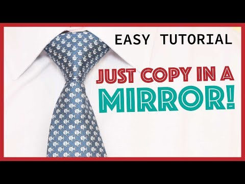 How to tie a tie windsor aka full windsor or double windsor how to tie a tie full windsor slowly mirrored easy ccuart Images