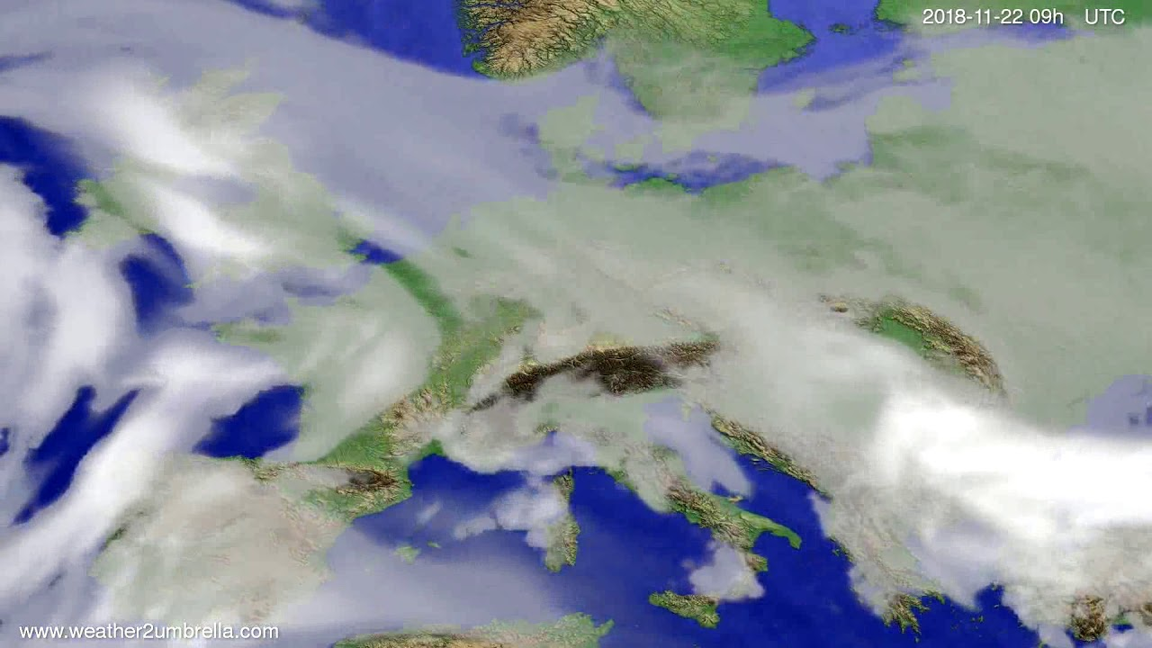 Cloud forecast Europe 2018-11-18