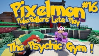Pixelmon Server Minecraft Pokemon Mod Pokeballers Lets Play! Ep 16 - The Psychic Gym!