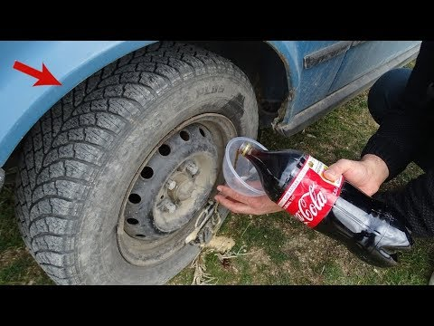 COCA COLAYI Tekerin İçine Doldurduk GEZDİK  Coca Cola vs WHEEL into FİLL