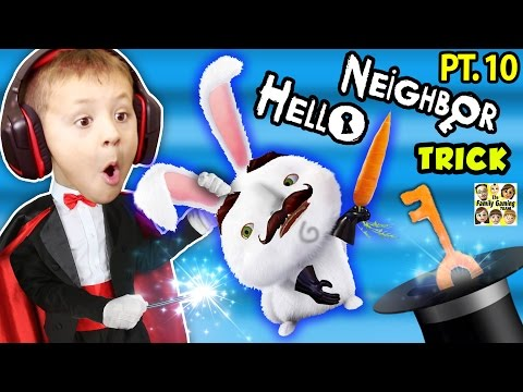 HELLO NEIGHBOR TRICKS w/ FGTEEV CHASE! Pre-Alpha, 2, & 3 Random Tips! (KIDS Gaming) (видео)