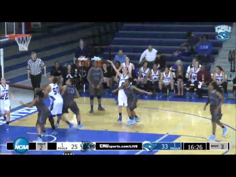 WBB: CNU vs. Wesley Highlights -  2-7-15