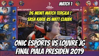 Video FINAL ONIC ESPORTS VS LOUVRE JG PIALA PRESIDEN ESPORTS | MATCH 1 MOBILE LEGENDS MP3, 3GP, MP4, WEBM, AVI, FLV April 2019