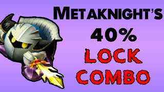 Metaknight's 40% d-Tilt LOCK combo! (Not my video)