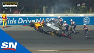 Another IndyCar Crash At Pocono Raceway Stirs Up More Controversy by Sportsnet Canada