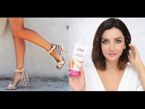 Hair Removal Cream - Yes or No?. Live Video Demo by ozbeautyexpert using Nad's Sensitive Hair Removal Cream