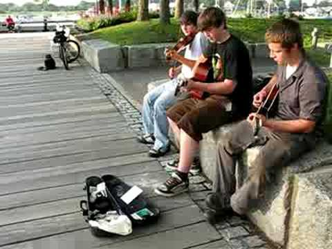unspoken youth playing at newburyport waterfront july 4