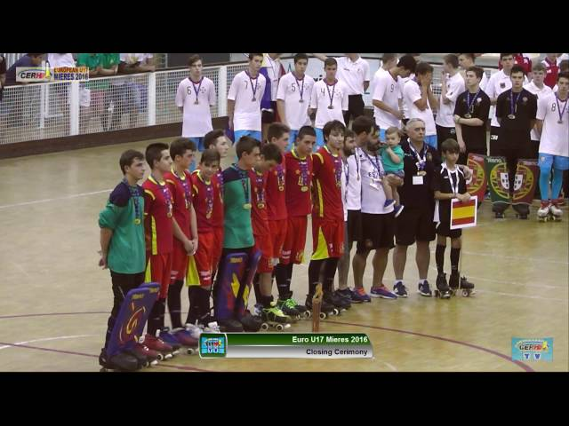 Closing Ceremony European Championship Mieres 2016