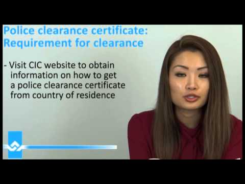 how to get police clearance certificate for canada immigration