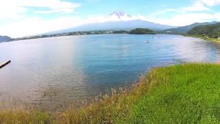 空撮 / 河口湖と富士山