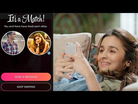 Alia Bhatt Plays The Tinder Game Live | Swipe Righ